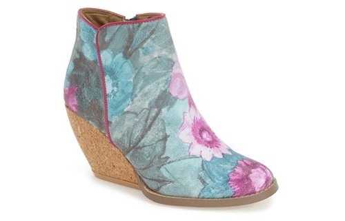 Very Volatile Tea Party Wedge Boots, $100