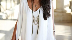 romwe white dress $14
