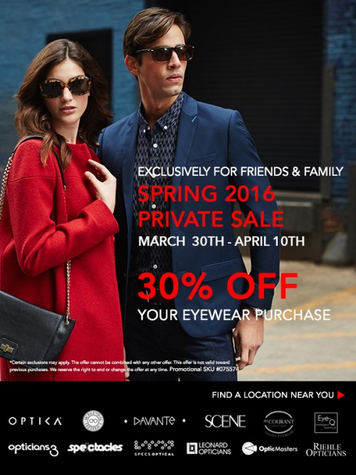 Optica Friends and Family Invitation