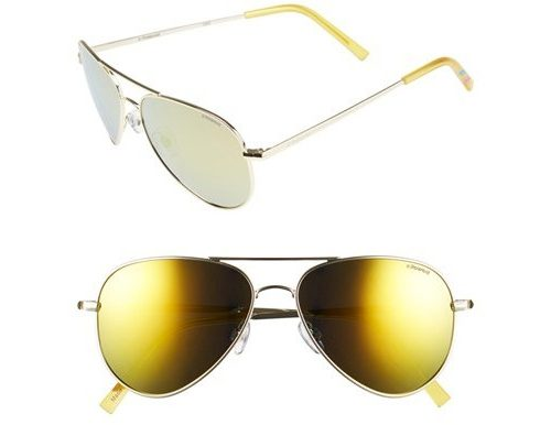 Polaroid Eyewear Polarized Aviator Sunglasses, $65 at Nordstrom