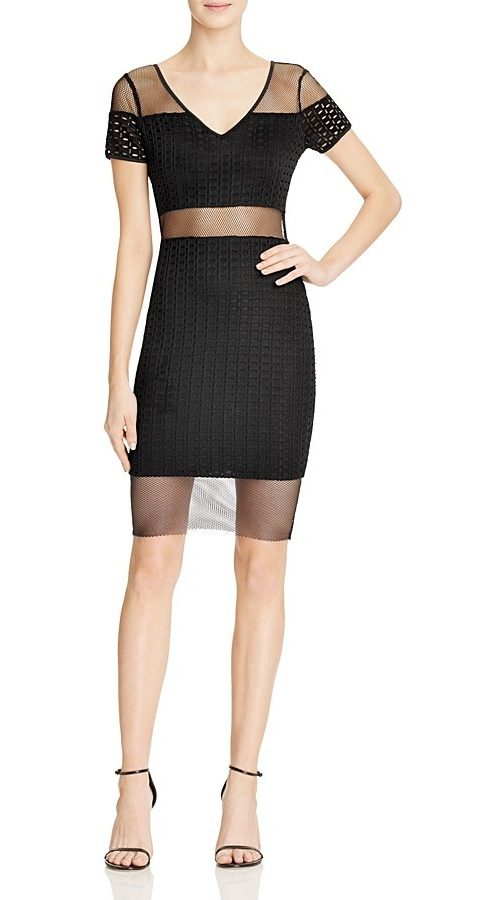 GUESS Lyssa Mesh Inset Dress, $48
