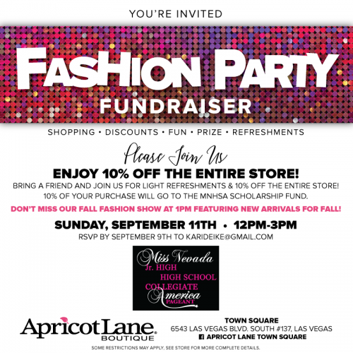 fashion party fundraiser
