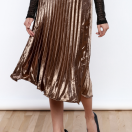 Under $100: Pleated Metallic Skirts